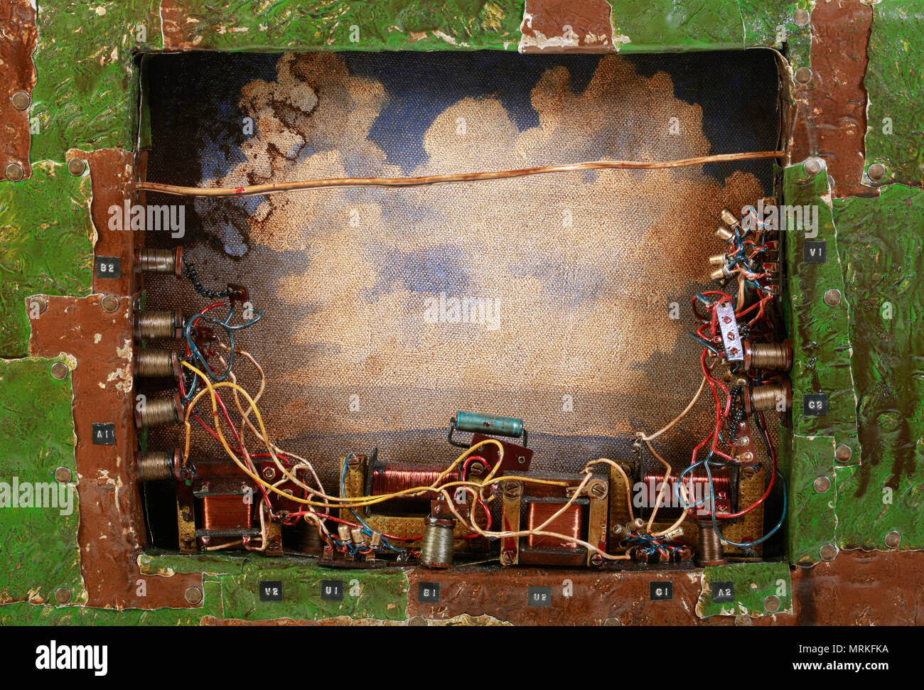 Post Apocalyptic Electronic Control Box Console Frame - Stock Image