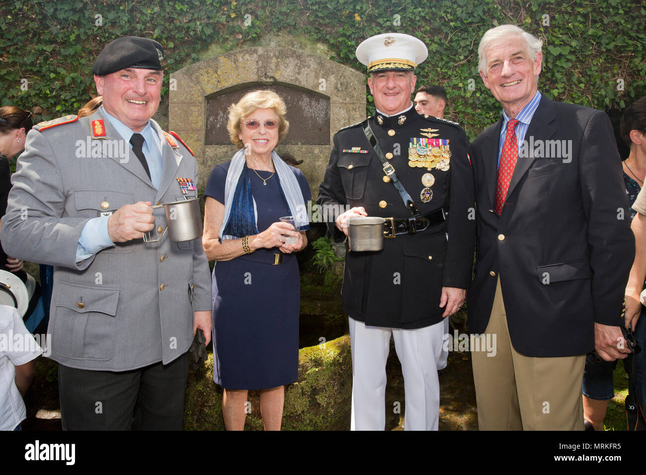 Distinguished guests attending a Memorial Day reception