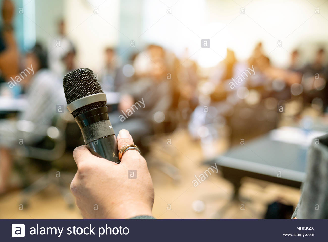 The Businessman in the auditorium. - Stock Image