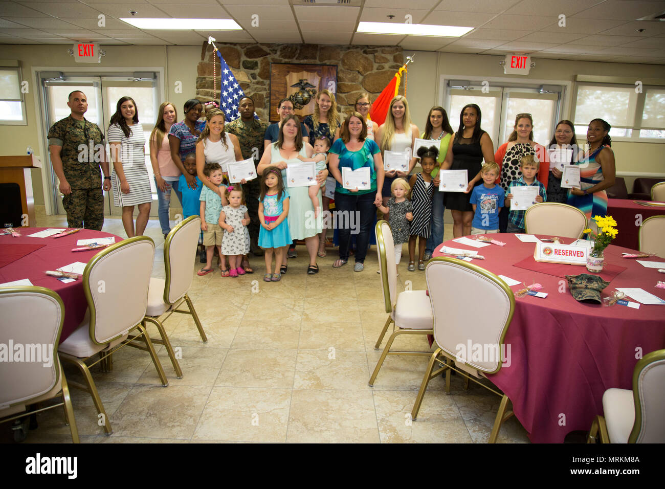 Sekou Karega Commanding Officer MCLB Barstow Presented 17 Military Spouses With Certificates Of Appreciation For Their Numerous