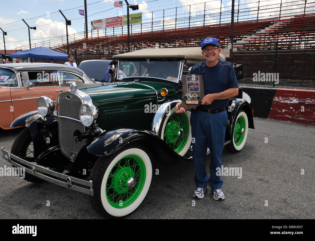 John Stockwell Took Best In Show With His Model A DeLuxe - Car show in indianapolis this weekend
