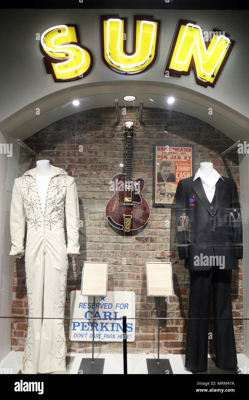 Exhibition inside of Memphis Music Hall of Fame.Memphis.Tennessee.USA - Stock Image