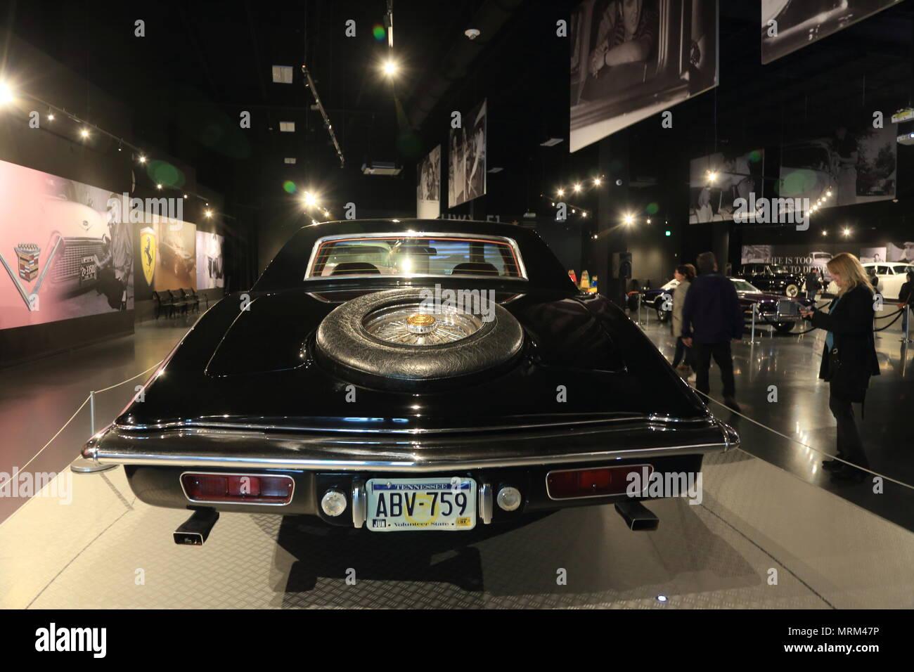 Elvis Presley's Stutz Blackhawk display in Presley Motors Automobile Museum in Graceland the home of Elvis Presley.Memphis,Tennessee.USA - Stock Image
