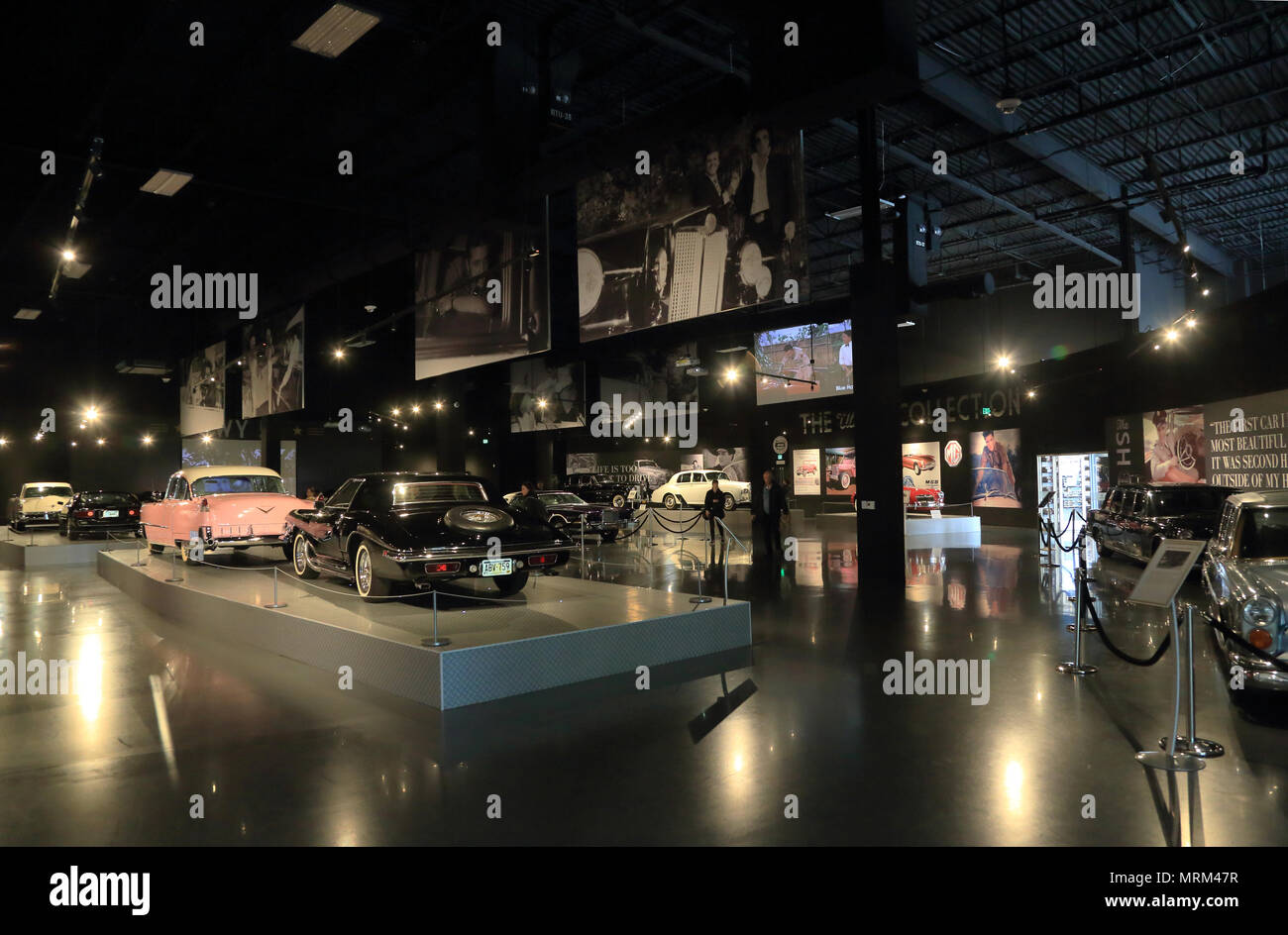 Presley Motors Automobile Museum in Graceland the home of Elvis Presley.Memphis,Tennessee.USA - Stock Image