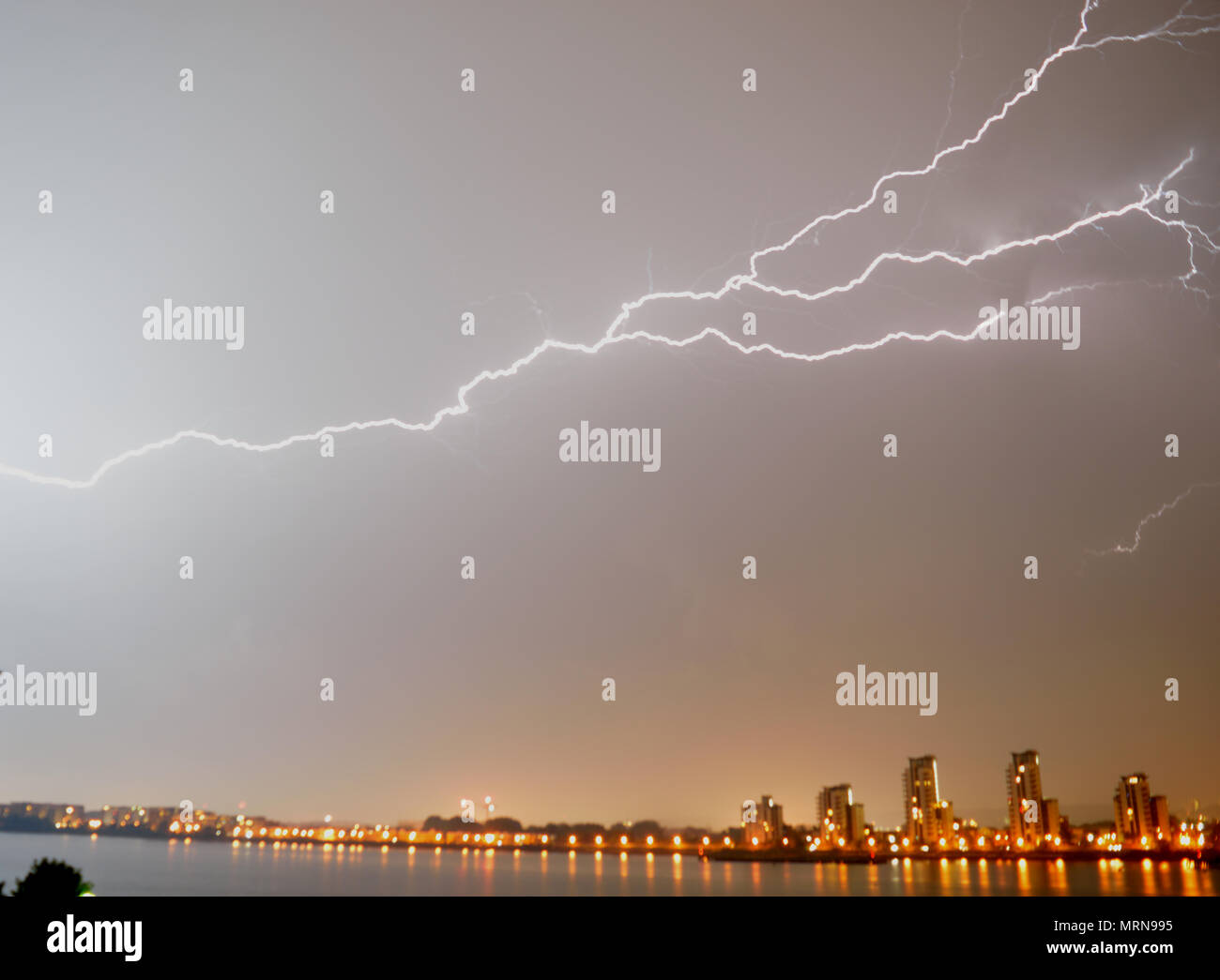 lightning striking the ground stock photos lightning striking the