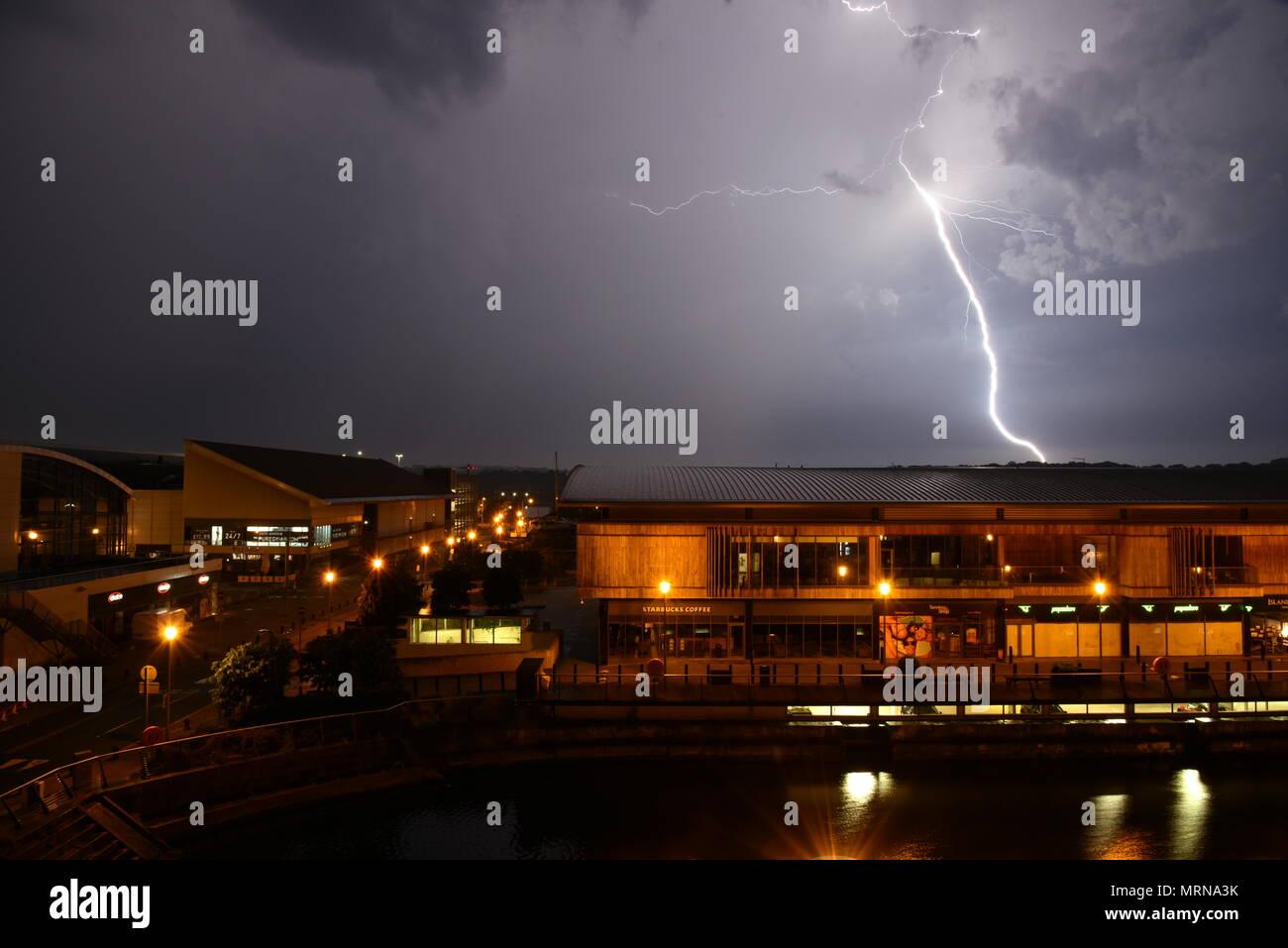 multiple lightning strikes stock photos multiple lightning strikes