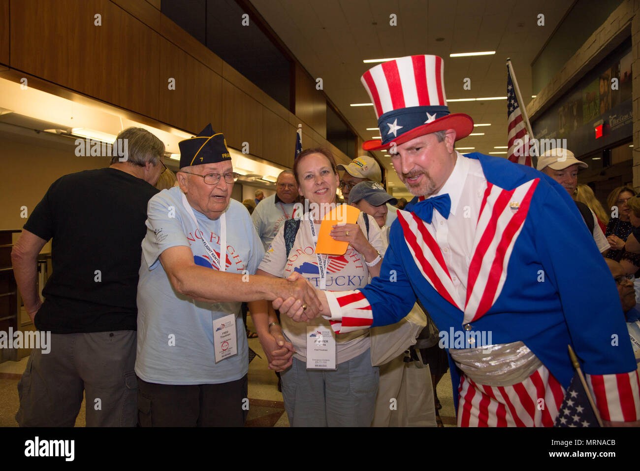 04032f30e4b Honor Flight Kentucky recipient receives a hero s welcome back home after a  day in our nation s capital