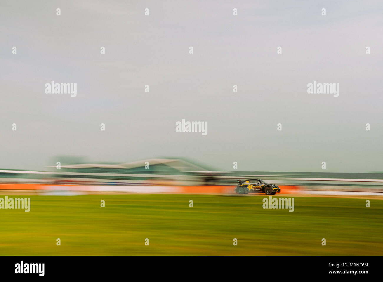 Towcester, Northamptonshire, UK. 27th May, 2018. FIA World Rallycross driver Tanner Foust drives during the Cooper Tires World RX of Great Britain at Silverstone (Photo by Gergo Toth / Alamy Live News) Stock Photo