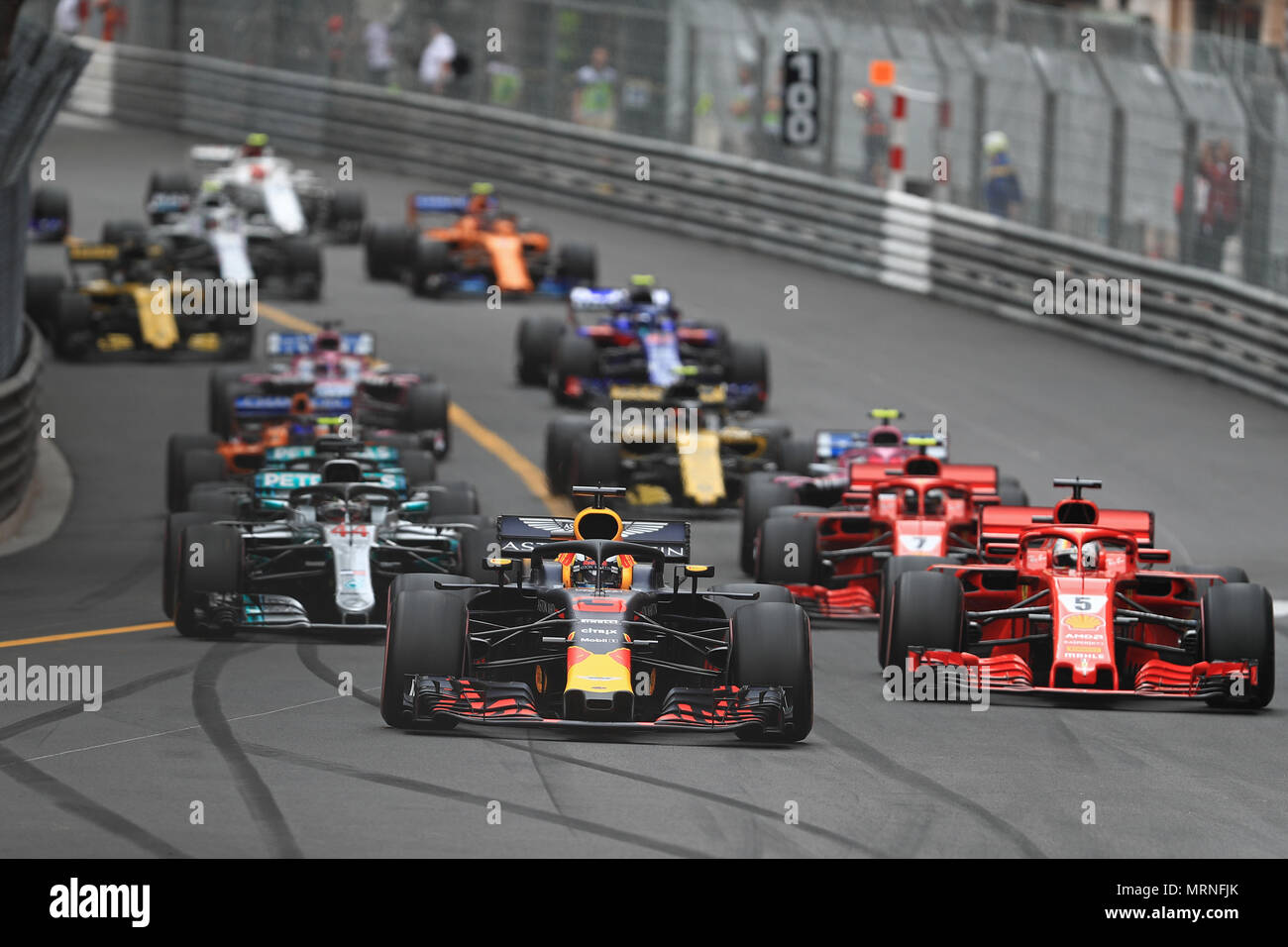 circuit de monaco monaco monte carlo 27th may 2018 monaco formula 1 grand prix race day. Black Bedroom Furniture Sets. Home Design Ideas