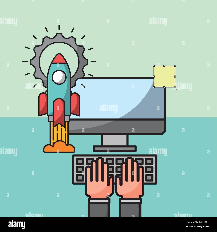 Business Cartoon Chart Stock Photos & Business Cartoon Chart Stock
