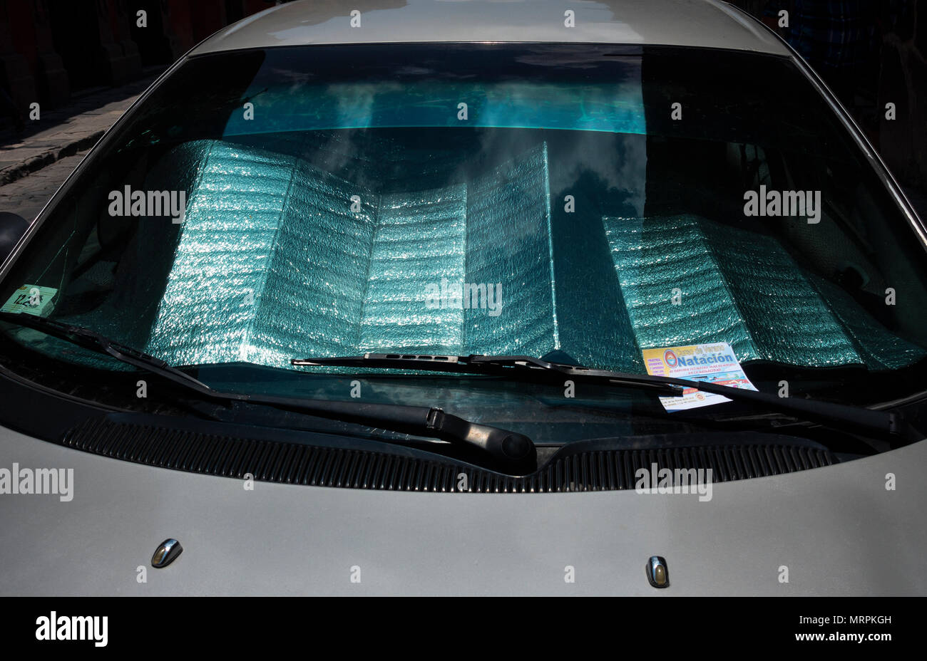 Car window reflector - Stock Image