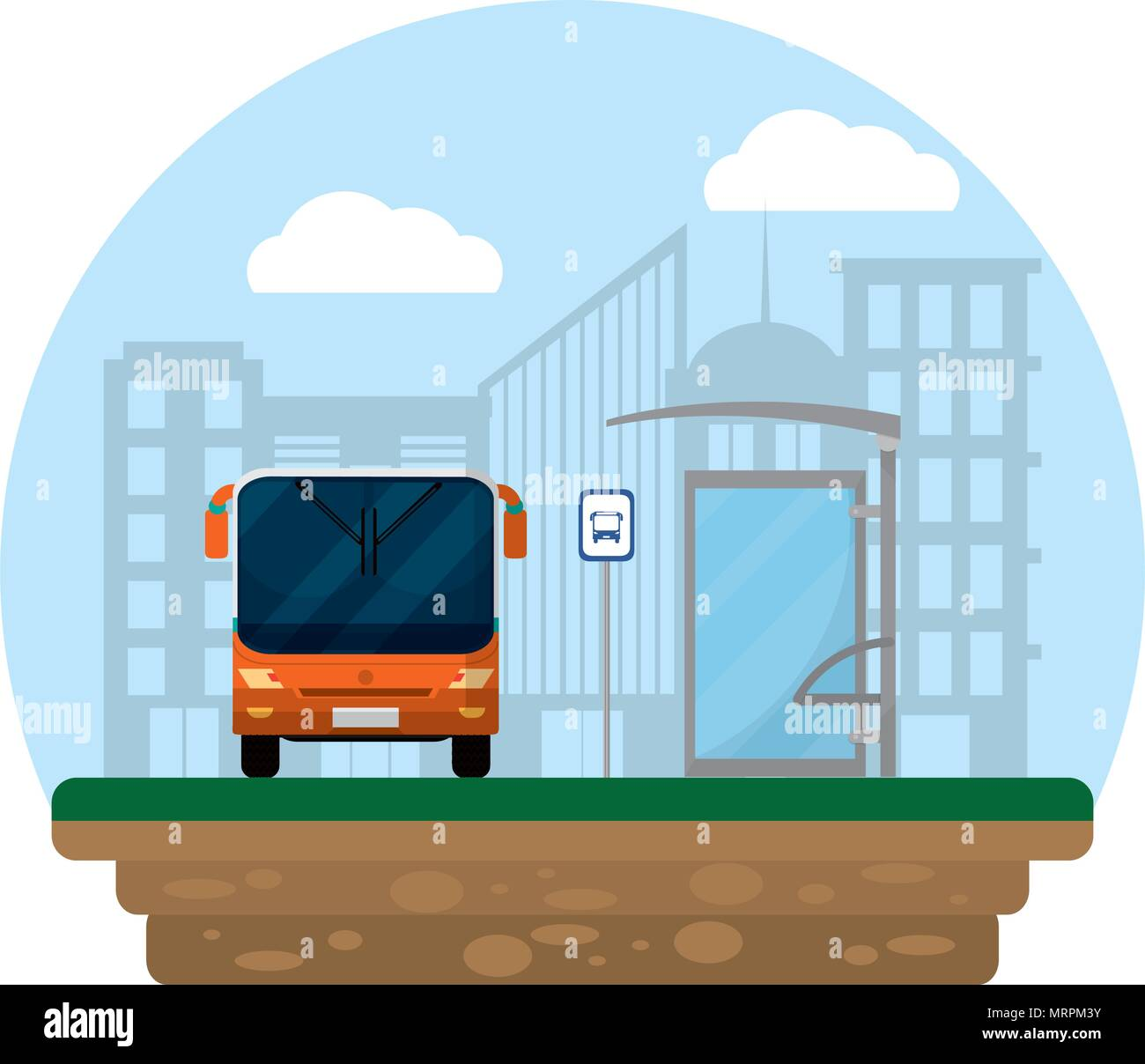 front bus transport and city passenger - Stock Image