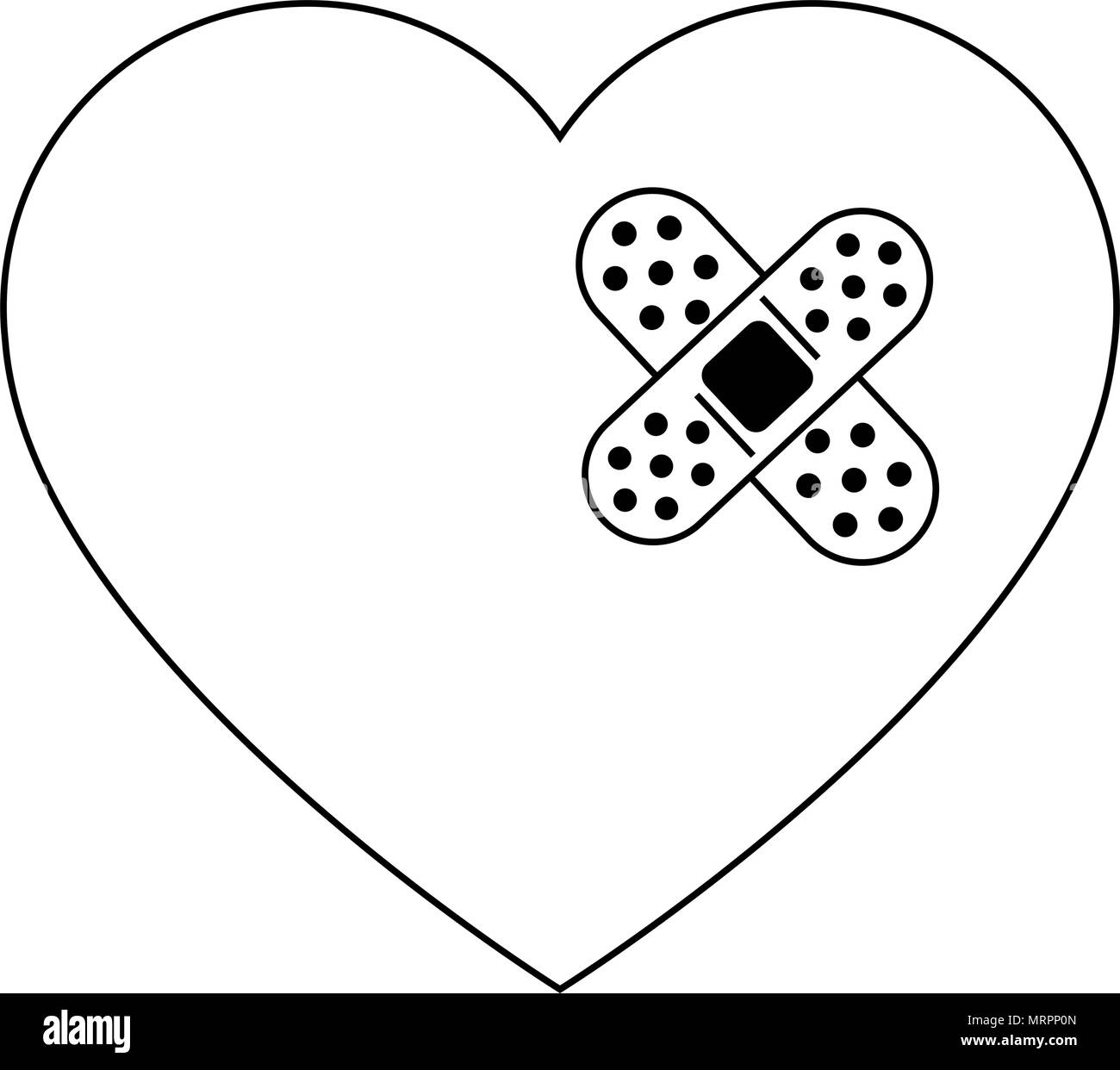 Broken Heart Black And White Stock Photos Images Alamy