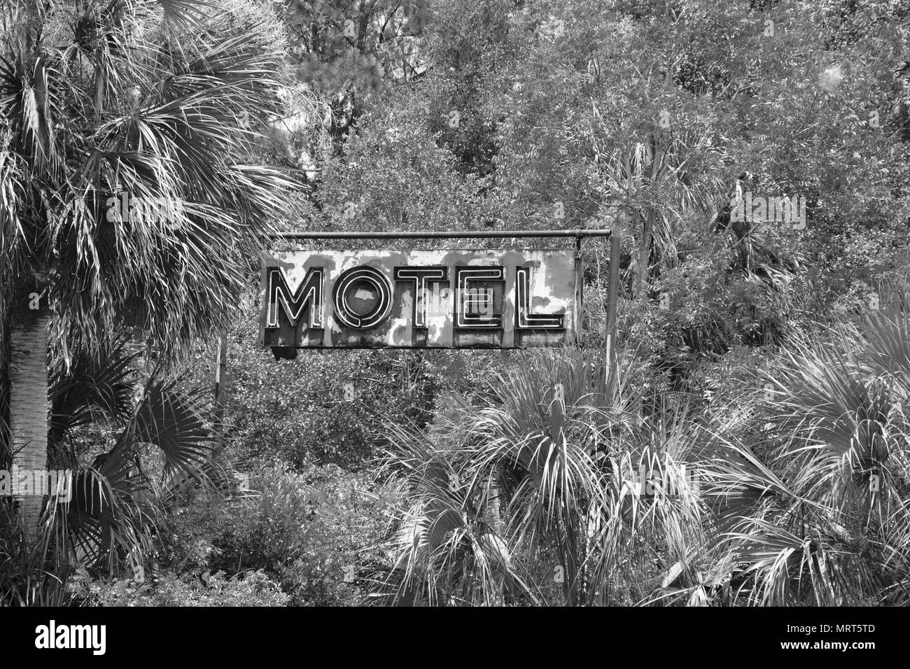 Old Signksblack and white - Stock Image
