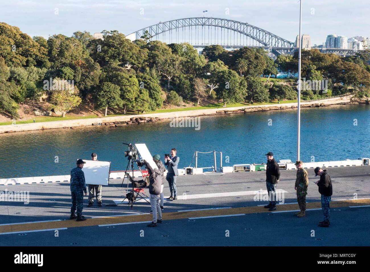 SYDNEY (July 1, 2017) Capt  Larry McCullen, commanding