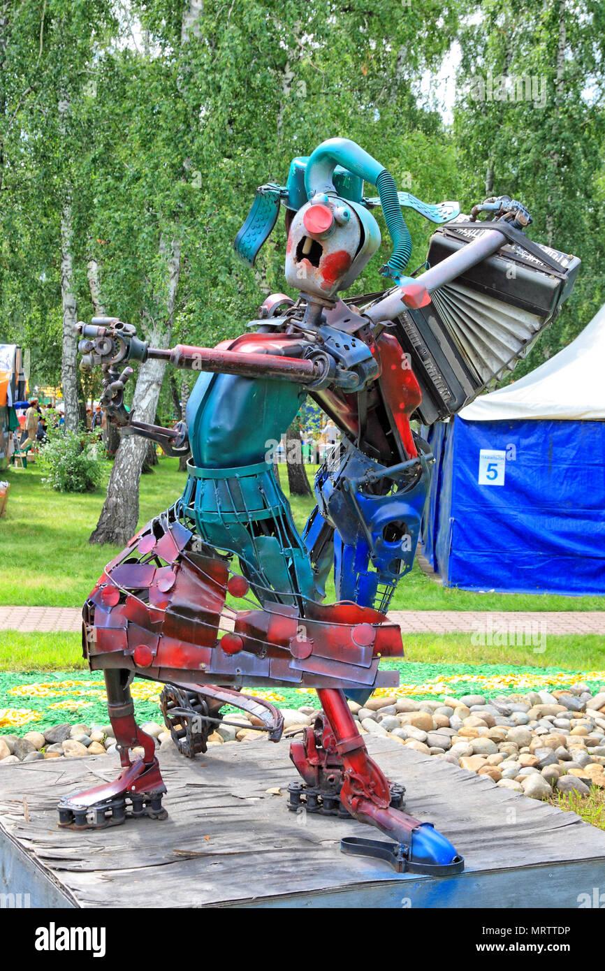Editorial. Omsk,Russia - Jule 29, 2009. Fair Agro-Omsk on the prospect Koroleva 20 Stock Photo
