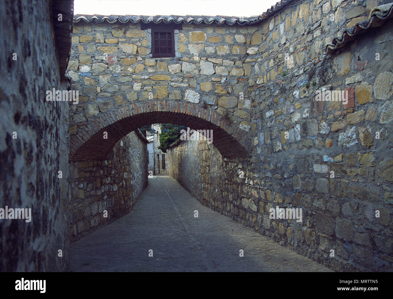 Street and arch. Baeza, Jaen province, Andalucia, Spain. Stock Photo