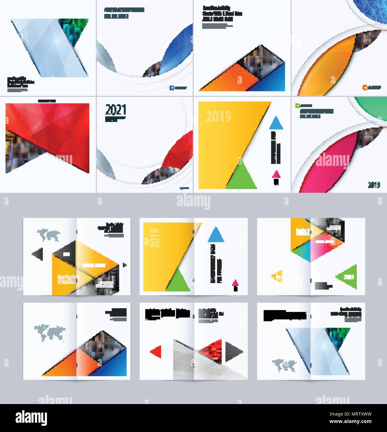 Abstract material design style of vector elements for