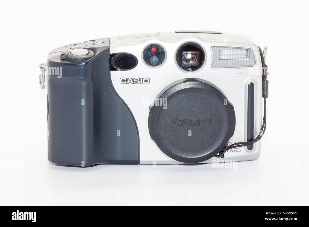 Phuket, Thailand-20th May 2018: An early Casio digital camera. QV-3000EX, circa 2001. This was the frst 3 megapixel camera on the market. - Stock Image