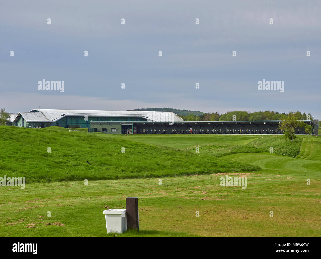 The Drumoig Golf Centre with its 24 Driving Range Bays near Dundee in Fife, Scotland. - Stock Image