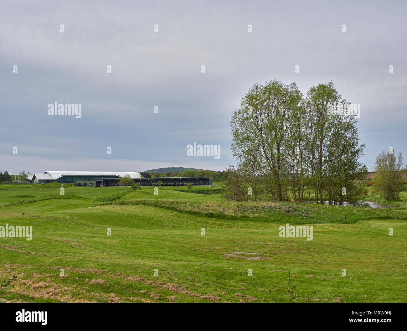 The Drumoig Golf Centre close to Dundee, which has a Driving range as well as a Par 3 9 Hole golf Course, Fife in Scotland. - Stock Image