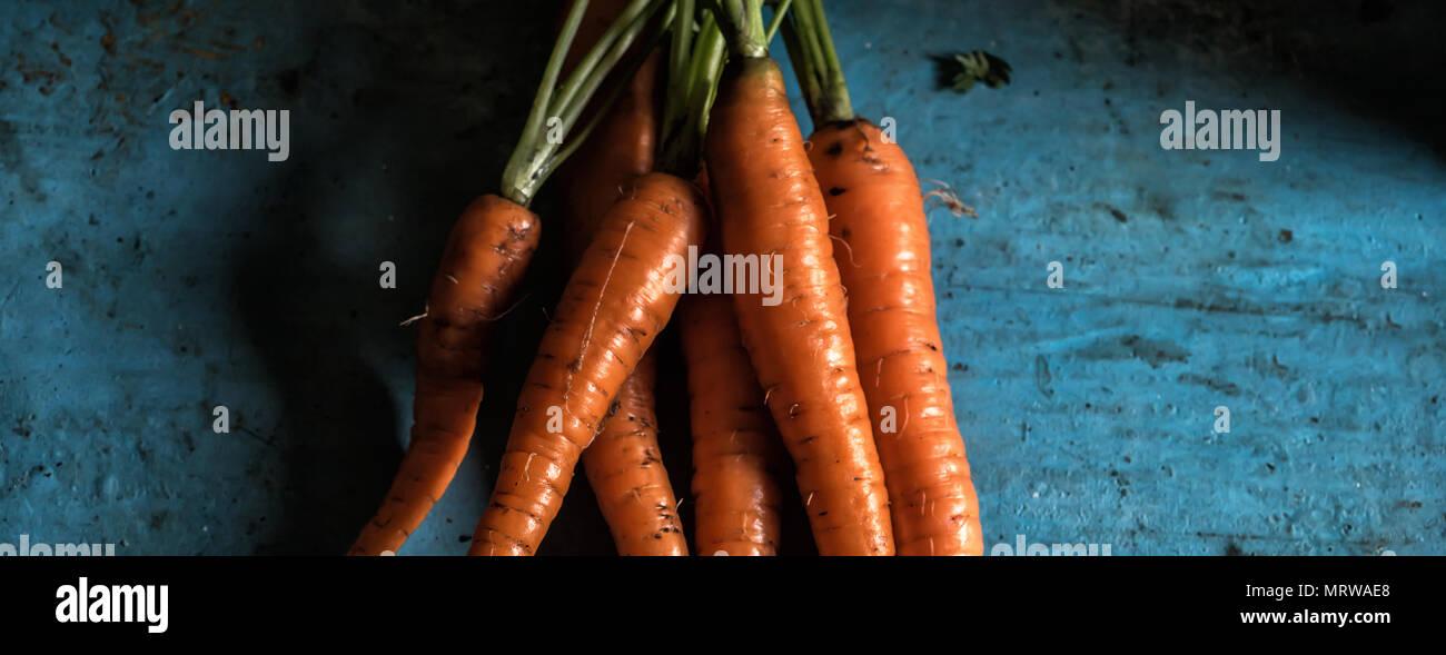 Carrots bunch freshness harvest carotene antioxidant vitamin for - Stock Image