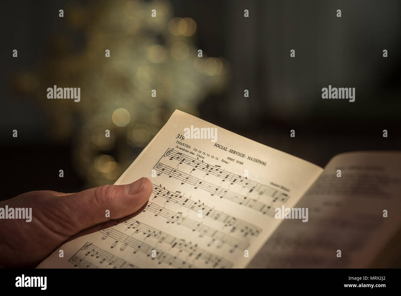 Hymn book music for I Vow to Thee My Country by Holst, also