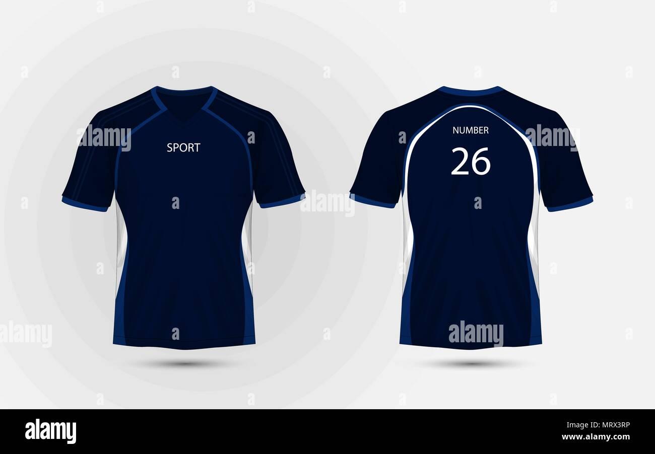 Blue and white layout sport t-shirt, kits, jersey, shirt design ...