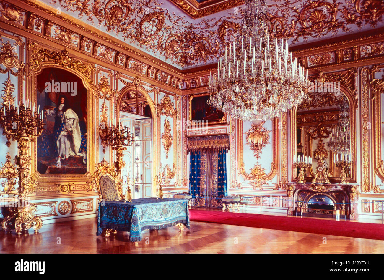 Council Room,Herrenchiemsee,Germany - Stock Image