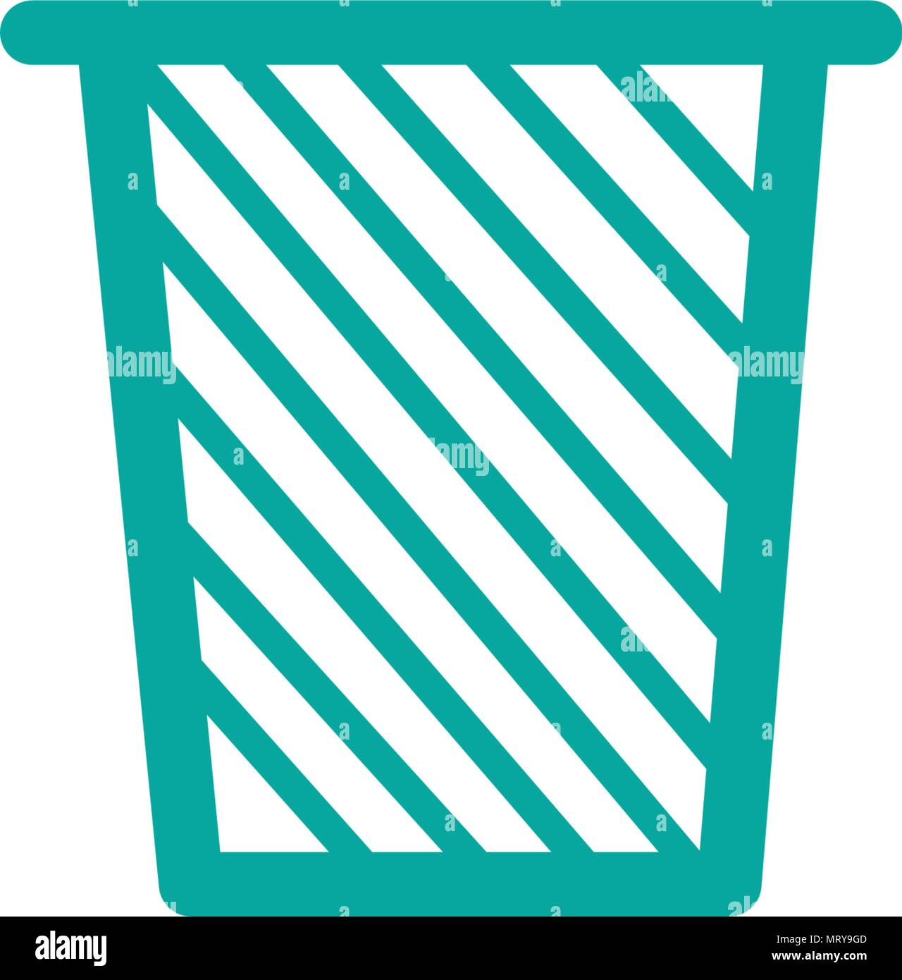 trash can recycle bin web icon vector template stock vector art