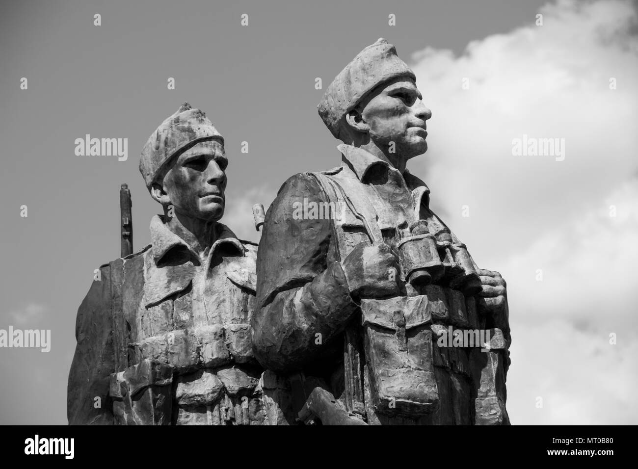 The Commando Memorial is a Category A listed monument in Lochaber, Scotland, dedicated to the men of the original British Commando Forces. - Stock Image