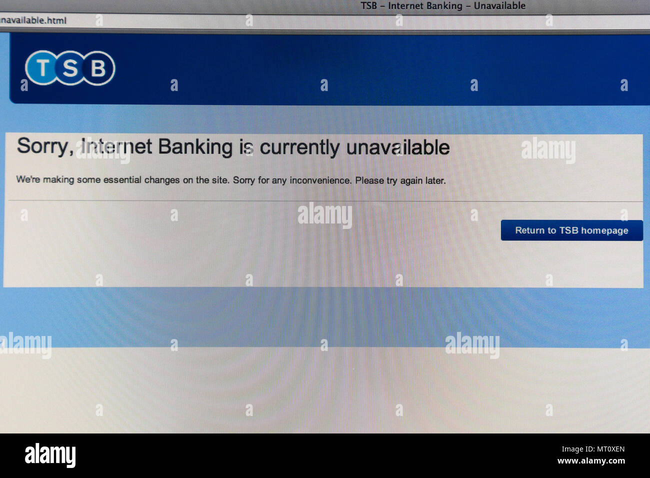 Tsb Online Login Page Stock Photos This Website Is Currently Unavailable Banking Service Bank Has