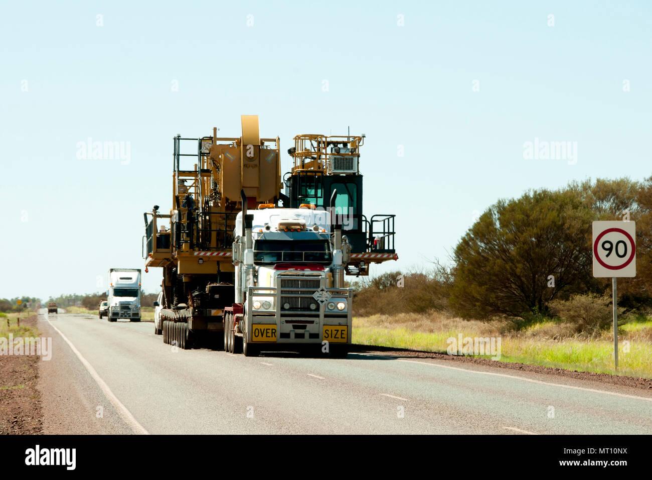 Oversize Heavy Machinery Transport - Stock Image