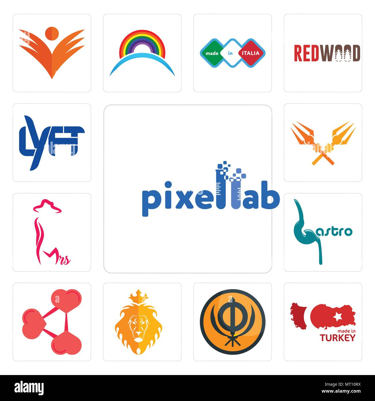 Set Of 13 Simple Editable Icons Such As Pixellab Made In Turkey