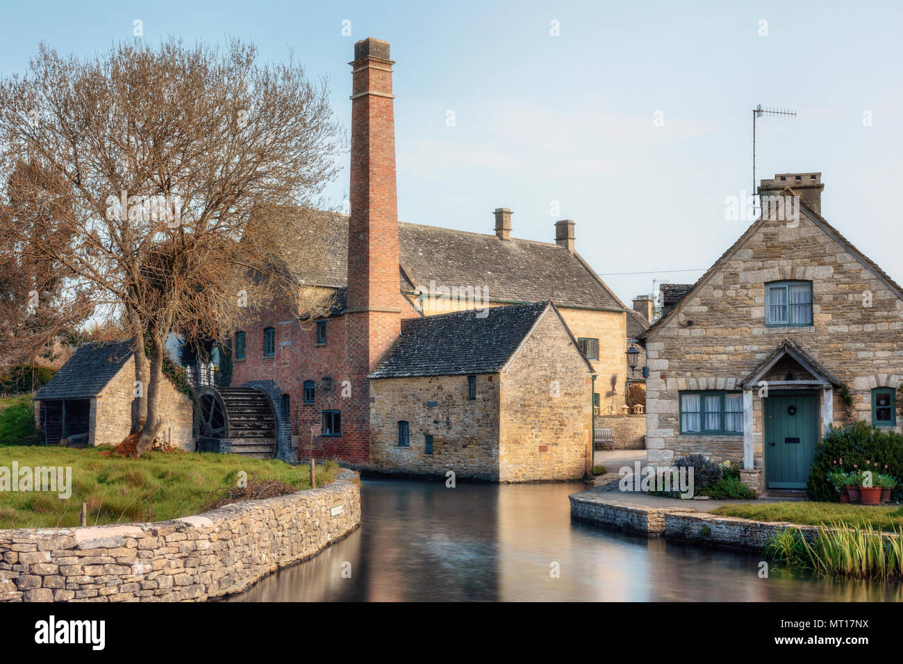 Lower Slaughter, Cotswold, Gloucestershire, England, UK - Stock Image