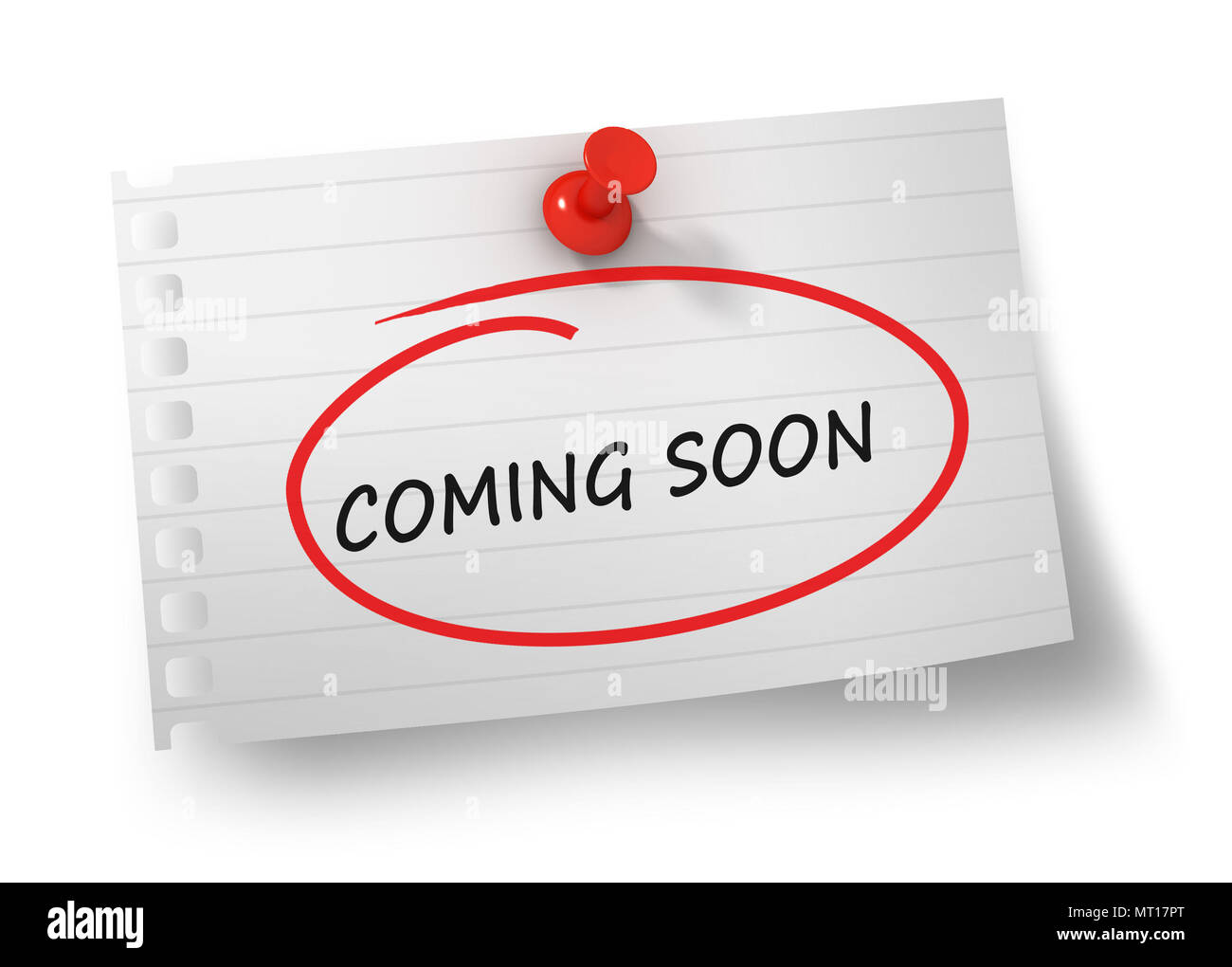 Coming Soon Concept 3d Illustration Isolated On White Background Stock Photo Alamy