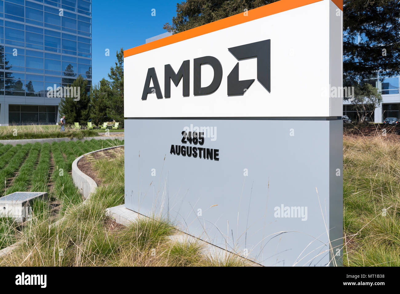 Santa Clara California April 26 2018 Amd Headquarters In Silicon Valley Amd Is An American Semiconductor Company That Develops Computer Process Stock Photo Alamy