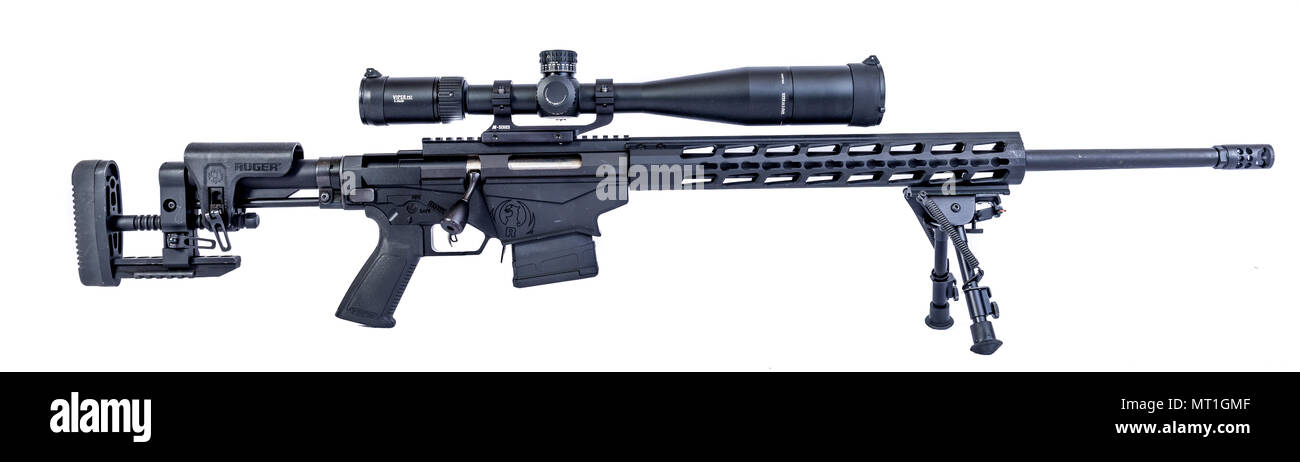 Winneconne 2 May 2018 A Ruger Precision Rifle With A Vortex Scope