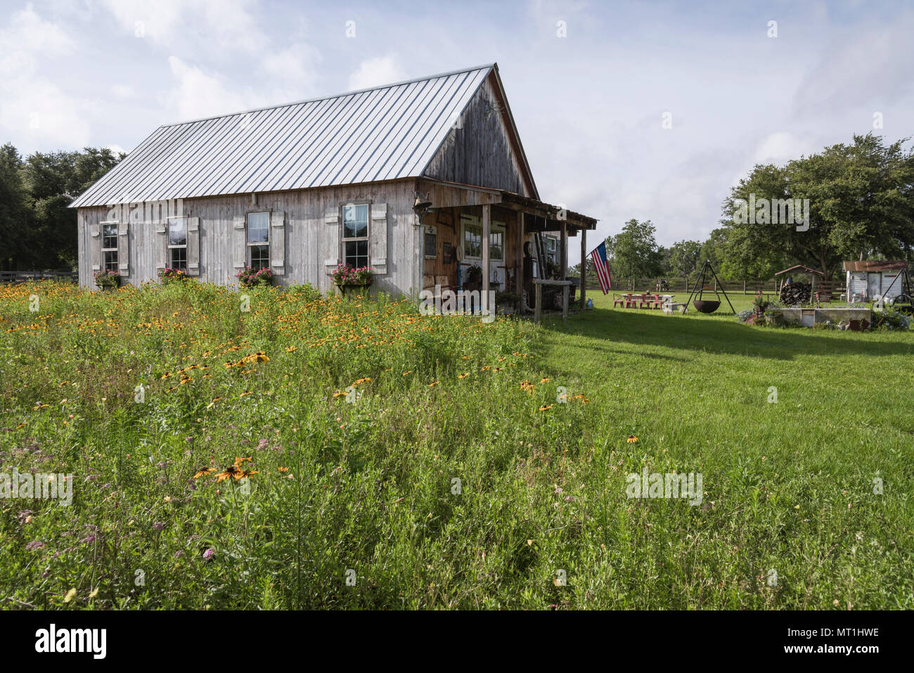 Old Farm House Florida USA Stock Photo