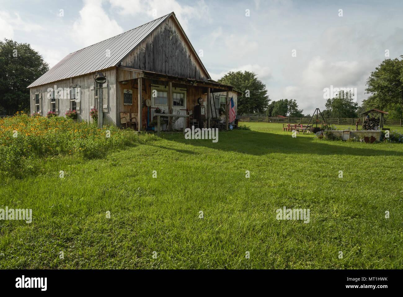 Old Farm House Florida USA - Stock Image