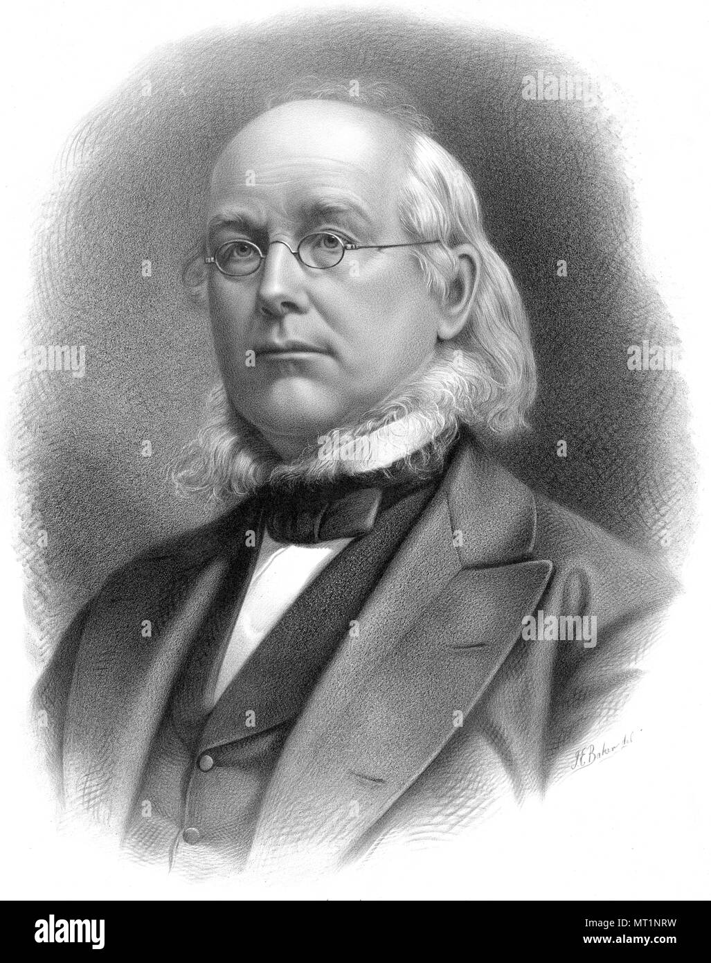 Horace Greeley (1811 – 1872) founder and editor of the New-York Tribune - Stock Image