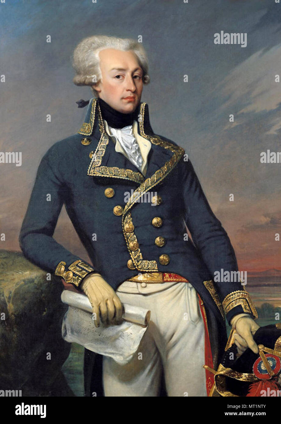 Gilbert du Motier Marquis de Lafayette, Marie-Joseph Paul Yves Roch Gilbert du Motier, Marquis de Lafayette (1757 – 1834), French aristocrat and military officer - Stock Image