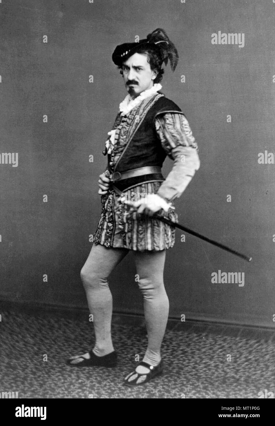 Edwin Booth, Edwin Thomas Booth (1833 – 1893) American actor who toured throughout the United States and the major capitals of Europe, performing Shakespearean plays. His brother was John Wilkes Booth - Stock Image