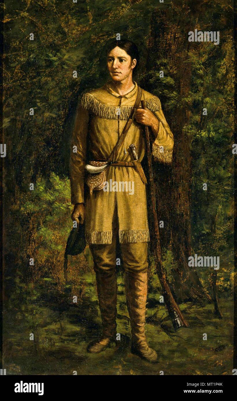 "Davy Crockett, David ""Davy"" Crockett (1786 – 1836) 19th-century American folk hero, frontiersman and politician Stock Photo"