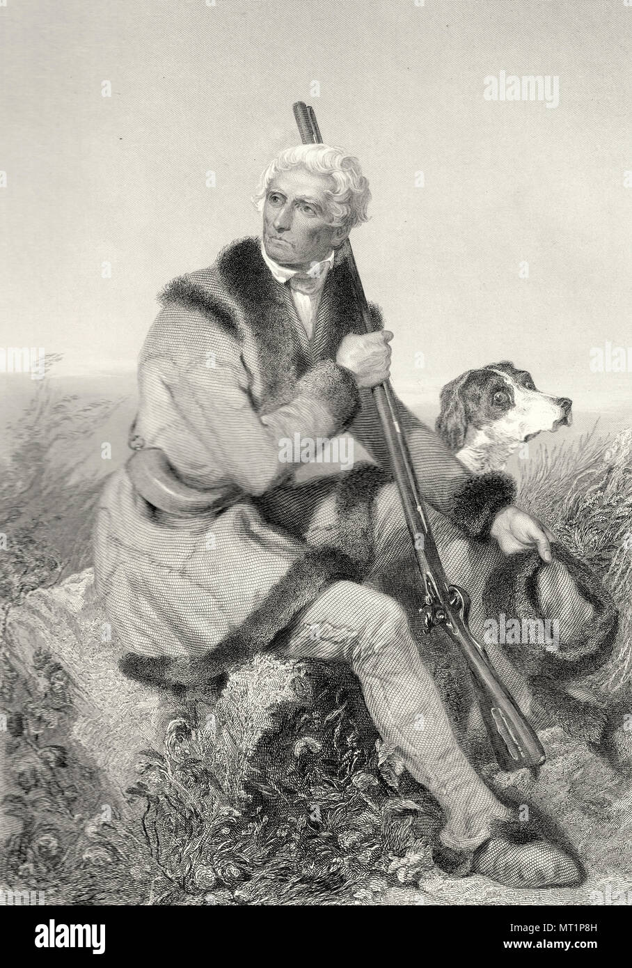 Daniel Boone (1734 – 1820) American pioneer, explorer, woodsman, and frontiersman, one of the first folk heroes of the United States. - Stock Image