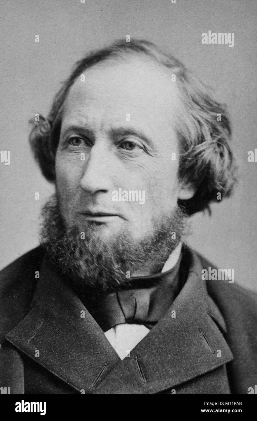 Cyrus West Field (1819 – 1892) American businessman and financier who, along with other entrepreneurs, created the Atlantic Telegraph Company and laid the first telegraph cable across the Atlantic Ocean in 1858. - Stock Image