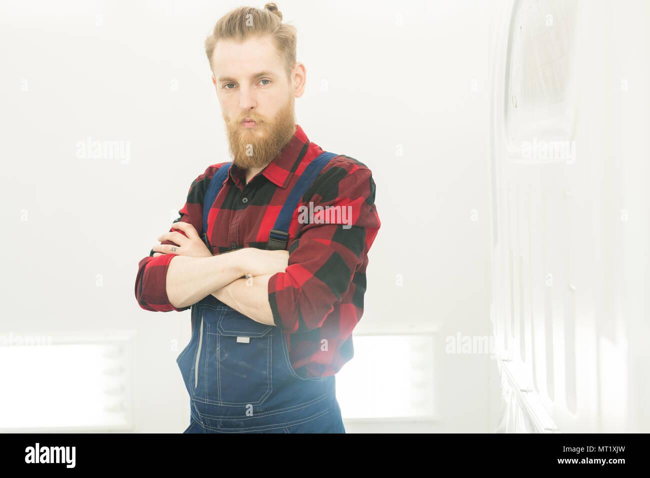 Confident Repairman At Work - Stock Image