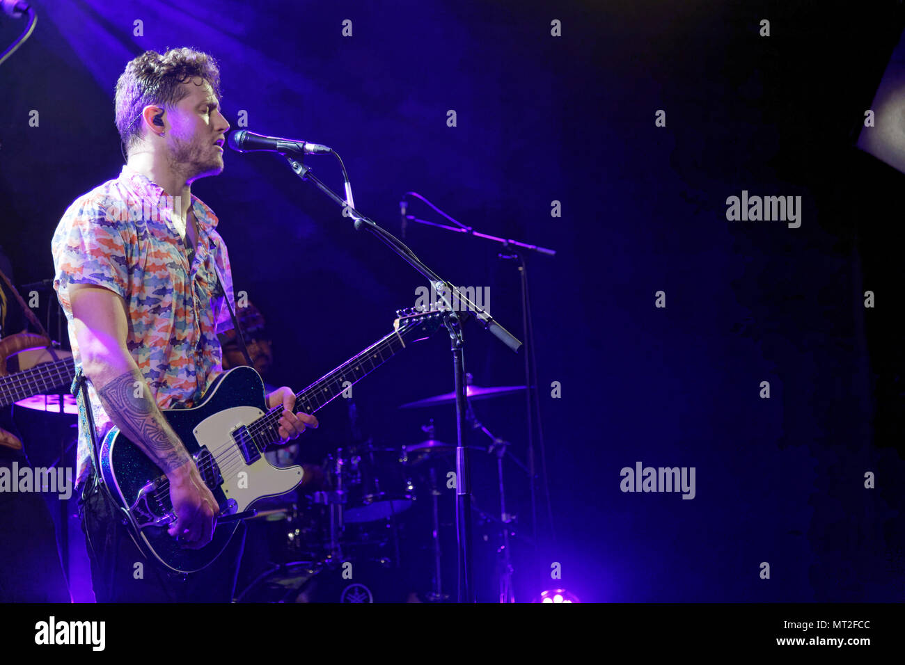 Ris-Orangis, May 27, 2018. The Delta Saints performed at the PLAN at Ris-Orangis, Essonne, near Paris, May 27, 2018, France Credit: Véronique PHITOUSSI/Alamy Live News - Stock Image