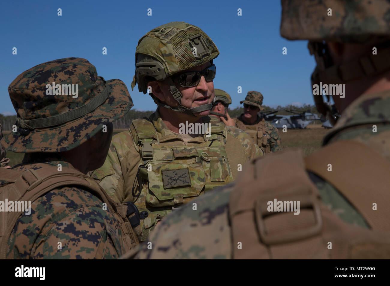 Australian Major General Paul Mclachlan Speaks To Marines From Kilo
