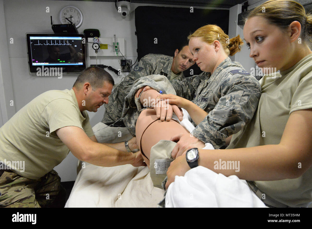 U S  Air Force members of the 119th Medical Group, North